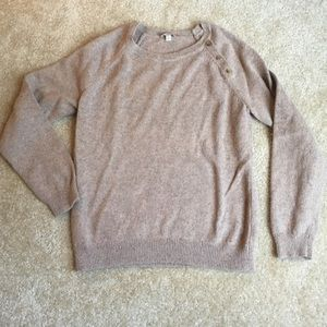 Talbots speckled brown/tan part wool sweater